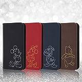 レイ・アウト iPhone X ケース 手帳型 ホットスタンプ ワンポイント ミッキーマウス RT-DP16I/MK