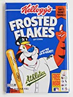 Oakland A 's Cerealボックス冷蔵庫マグネット(2.5 X 3.5インチ)