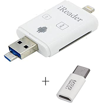 多機能 カードリーダー ビデオ/写真/ファイル転送 SD/TF/type c対応  sdカードリーダー
