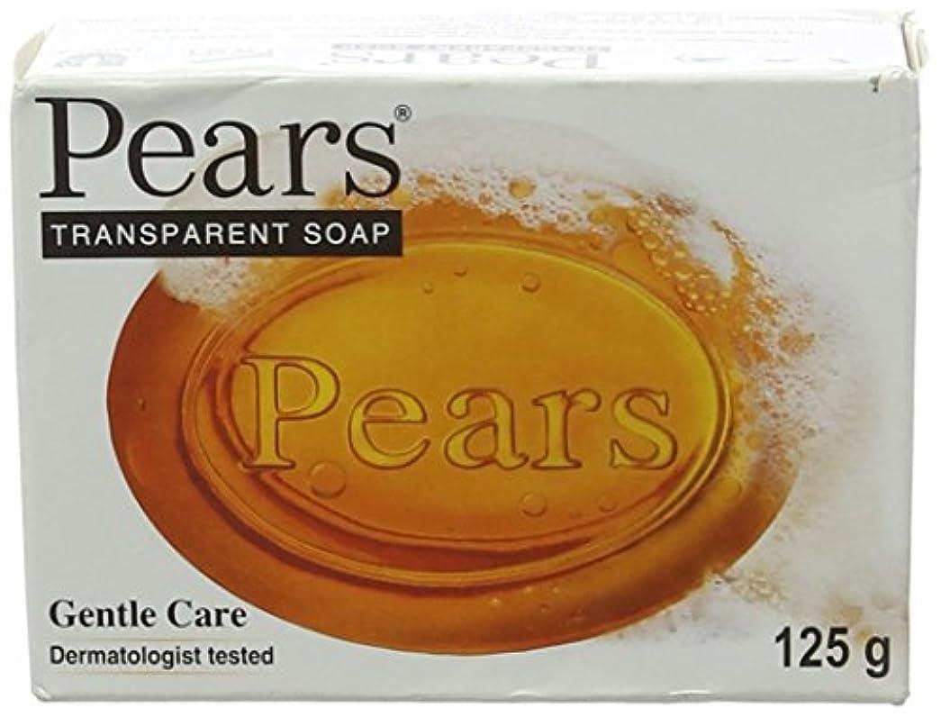 塊のぞき穴プレゼンテーションPears Transparent Soap (orange) (125g) 梨透明石鹸(オレンジ) ( 125グラム)