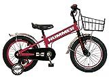 HUMMER(ハマー) KID'S16 TANK3.0-SE レッド 16インチ 子供自転車 安定の良い極太タイヤ装着(16×3.0インチ) ステンレスフェンダー/ワイヤーバスケット標準装備 フルカバーチェーンケース 迫力満点キッズバイク 13377-0299