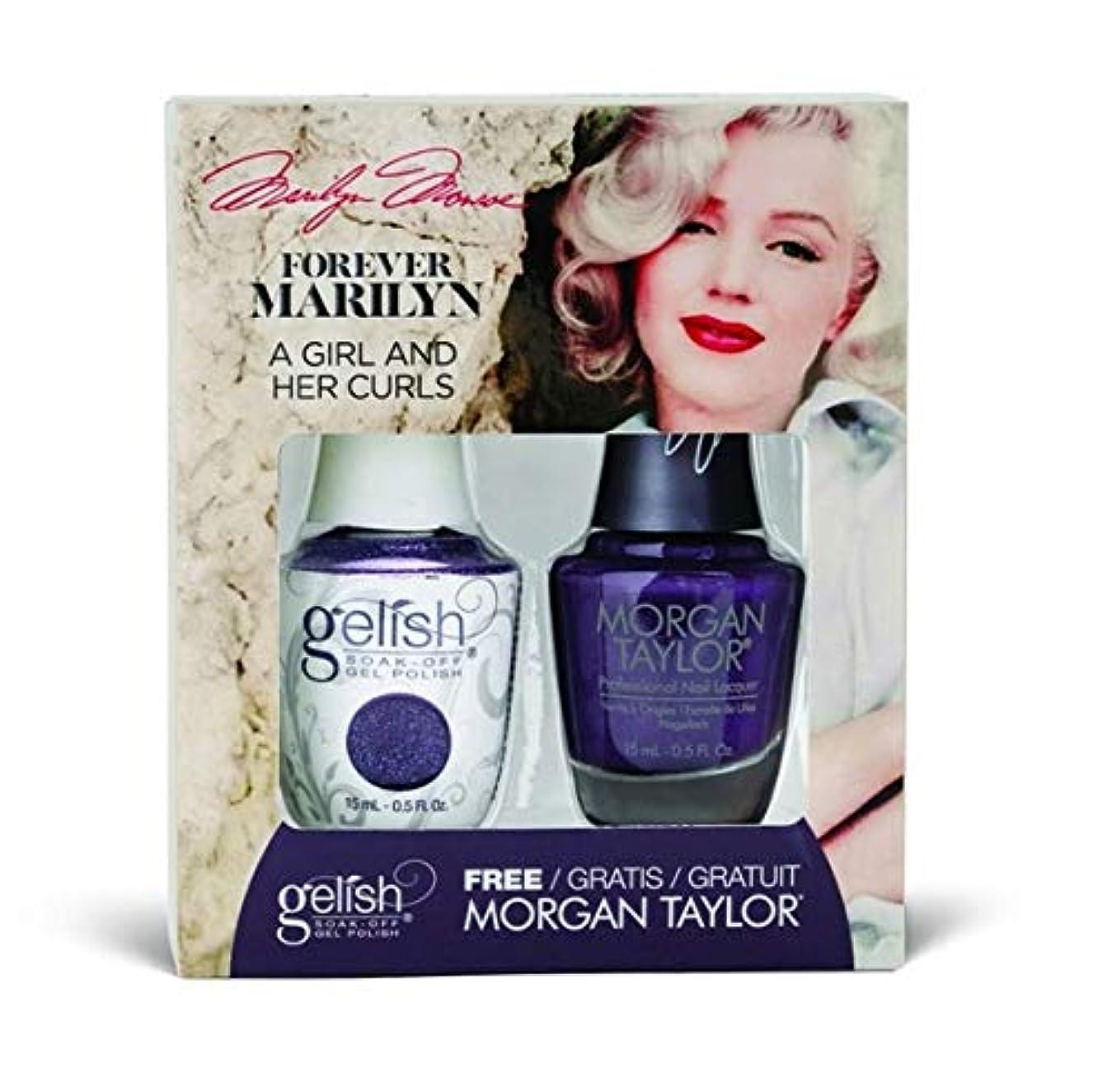 アジテーション農夫海洋のHarmony Gelish - Two of a Kind - Forever Marilyn Fall 2019 Collection - A Girl And Her Curls - 15ml / 0.5oz
