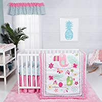 Trend Lab Tropical Tweets 3 Piece Crib Bedding Set, Pink [並行輸入品]