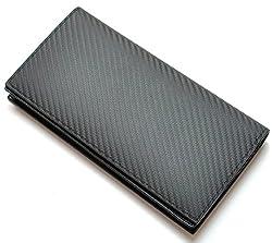 耐久性と撥水性!粋なカーボンレザー×グレインレザー長財布 [ BEAMZ SQUARE 5171 ] 誕生日プレゼント メンズ財布