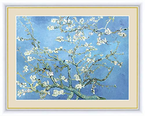【F6】 世界の名画額 花咲くアーモンドの木の枝 ゴッホ 有名美術館 レプリカ モダン インテリア 壁掛け 階段飾り G4-BM054