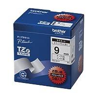 (まとめ買い) ブラザー ピータッチテープ 9mm白/黒(5個入) TZE-221V 【×3】