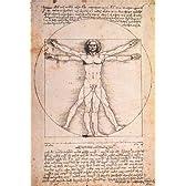 204ピース ジグソーパズル プチ レオナルド・ダ・ヴィンチ ウィトルウィス的人体図 スモールピース(10x14.7cm)