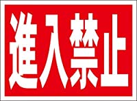 シンプル看板「進入禁止」屋外可(約H22.7cmxW30.5cm)