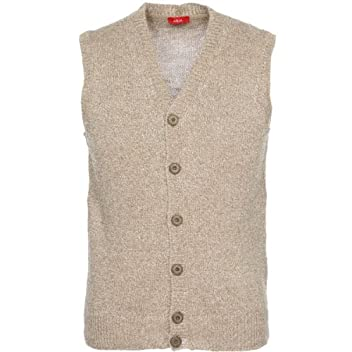 Linen Silk Rayon Vest 1353077: Beige