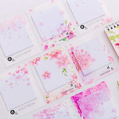 ポストイット 桜 桜吹雪 メモ 付箋 桜の花びら 強粘着 綺麗 手帳 ノートポストイット かわいい ふせん 贈り物 学用品 8冊セット
