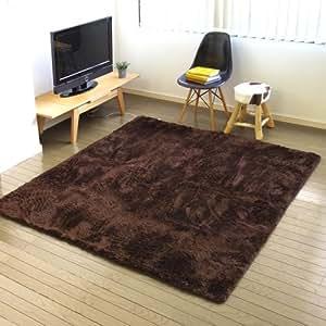 日本製 plywood オリジナル 電磁波99%カット 電子コントロールカーペット&選べる ラグセット [ モダンフェザー/ブラウン ]