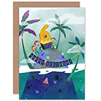 Pirate Treasure Boys 6th Birthday Card
