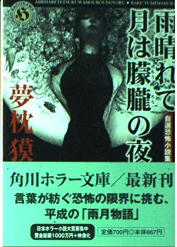 雨晴れて月は朦朧の夜―自選恐怖小説集 (角川ホラー文庫)の詳細を見る