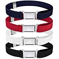 Kids Magnetic Belt Adjustable Elastic Belt with Magnetic Buckle for Boys Daily Use Girls