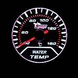 KKmoon 水温計ゲージ センサー付き 2インチ 52mm 40〜150℃ ホワイトLEDライト 自動車用