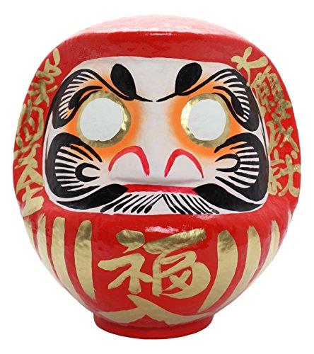 高崎だるま 福だるま8号 赤 「家内安全・大願成就」 25x21x26cm DARUMA-FUKU8