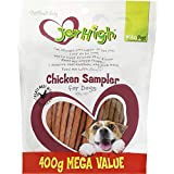 Vita Pet Jerhigh Chicken Sampler Treats, Dog Treats, for Adult and Senior Dogs, Small/Medium/Large dogs, 400 g