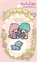 【TS-10】Little Twin Stars キキララ キラキラ 刺繍デコシール