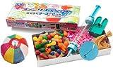 【水ヨーヨー】ファンタスティック らくらくヨーヨー出来てるこよりセット(100人用)  / お楽しみグッズ(紙風船)付きセット [おもちゃ&ホビー