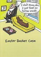Greeting Card Easter Humor I Don't Know Doc I Just Feel Holoow Inside Easter Basket Case [並行輸入品]