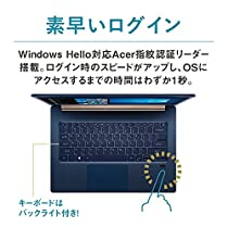 Acer ノートパソコン Swift 5 SF514-52T-H58Y/B Core i5-8250U/8GB/512GB SSD/ドライブなし/14.0/Windows 10/チャコールブルー