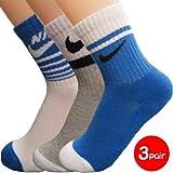 NIKE ナイキ ソックス 靴下 ジュニア キッズ 子供 スポーツソックス 3足セット 19~21cm