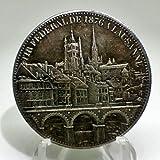 スイス 都市景観 5フラン銀貨 1876年 レプリカ