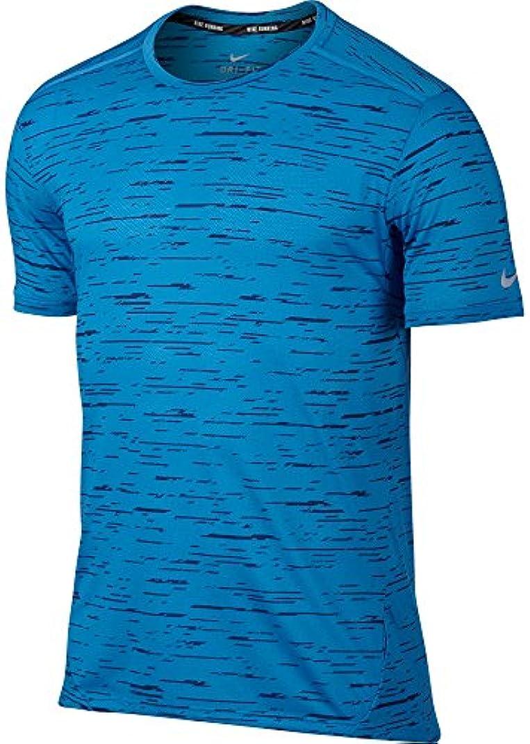 ほのかかりて倍増ナイキ トップス シャツ Nike Men's Dry Tailwind Printed Running LtPhotoBlu [並行輸入品]