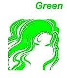 ノーブランド 緑 ミステリアスガール 女性 シルエット Woman ウーマン 美女 べっぴん 別嬪 麗人