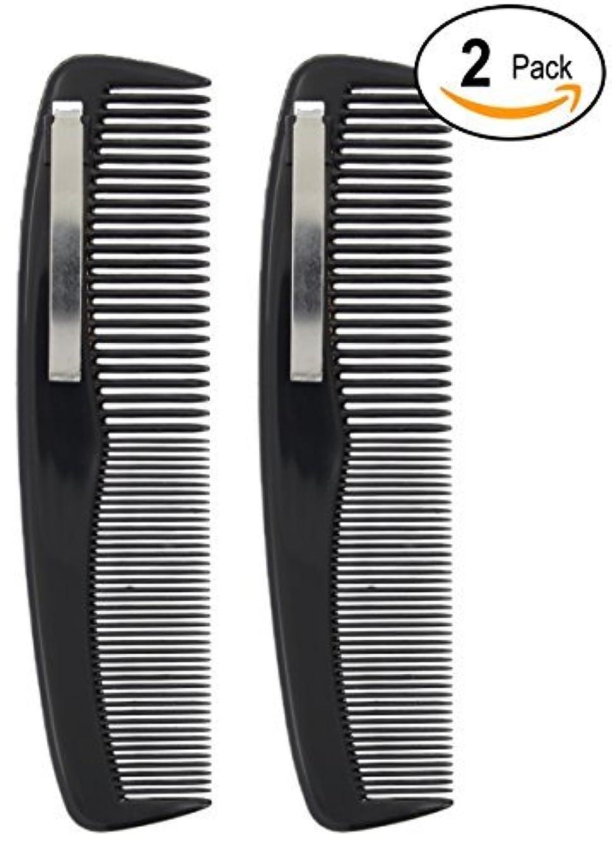 2 Black Pocket Comb - 5