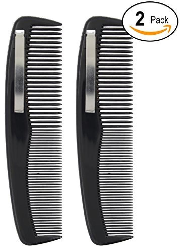 タイマー細い占める2 Black Pocket Comb - 5
