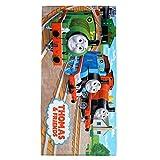 "Franco Kids Super Soft Cotton Beach Towel, 28"" x 58"", Thomas and Friends"