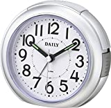 リズム時計 DAILY 目覚まし 時計 RA21DN シルバーメタリック 8REA21DN19