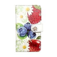 Xperia Z5 SO-01H(5) エクスぺリア アンドロイド 全機種対応 手帳型スマホケース 携帯カバー スマホカバー[カード収納/スタンド機能/全面保護/耐衝撃]プレゼント 人気 おしゃれ かわいい 花柄 フルーツ diary-fruitmix (ブルーベリー)