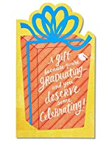 (Happiness) - American Greetings Happiness Money and Gift Card Holder Graduation Card with Foil