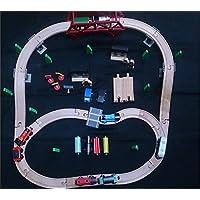 【イマジナリウム】 ロード&レール?トレインセット + きかんしゃトーマス木製レールシリーズ付き
