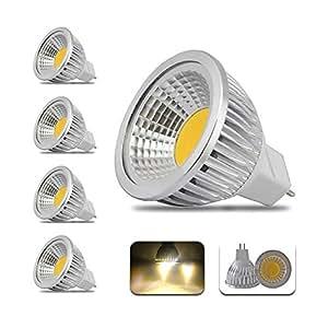 4個 3W LED電球、MR16 - ハロゲン電球 30Wattの等価、ソフトホワイト(3000K)、トラック照明、スポットライト、LED電球