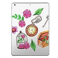 第2世代 第3世代 第4世代 iPad 共通 スキンシール apple アップル アイパッド A1395 A1396 A1397 A1416 A1430 A1403 A1458 A1459 A1460 タブレット tablet シール ステッカー ケース 保護シール 背面 人気 単品 おしゃれ フラワー 時計 アンティーク 009540