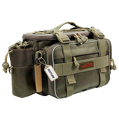 Goture(ゴチュール) フィッシングバッグ 3 WAY 多機能 タックルバッグ 渓流バッグ 船釣り ショルダーバッグ グリーン