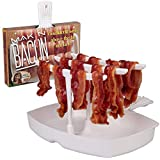 Microwave Bacon Cooker - The Original Makin Bacon Microwave Bacon Rack - Reduces Fat up to 35%