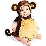 LOCOER 猿 乳児 幼児 赤ちゃん ハロウィン コスチューム いたずら 好き ふわふわ 着ぐるみ おくるみ パジャマ サイズ 18 Months