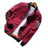 SemiAugust(セミオーガスト)メンズ 春秋 カジュアルジャケット シンプルタイプブルゾン 紳士風 通勤 男性用 カラーはレッド サイズはXL