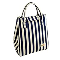 Tote Bento Lunch Bag Insulated Lunch Cooler for Kids Girls Women Stylish Waterproof 【Creative Arts】 [並行輸入品]