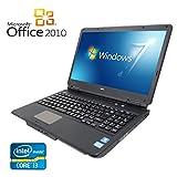 【Microsoft Office 2010搭載】【Win 7搭載】NEC VK22LFWDF/次世代Core i3 2.20GHz/メモリ4GB/HDD320GB/DVDスーパーマルチ/テンキー付/大画面15インチ/無線LAN搭載/中古ノートパソコン