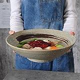セラミックボールラーメンボウル - 和風クリエイティブセラミック食器果物サラダラーメンスープボウル、直径30 CM (色 : A)