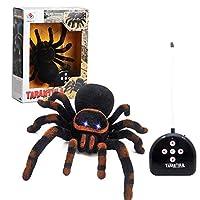 P Prettyia 蜘蛛 電動おもちゃ RC リモコン 昆虫 おもちゃ 悪ふざけおもちゃ ハロウインおもちゃ