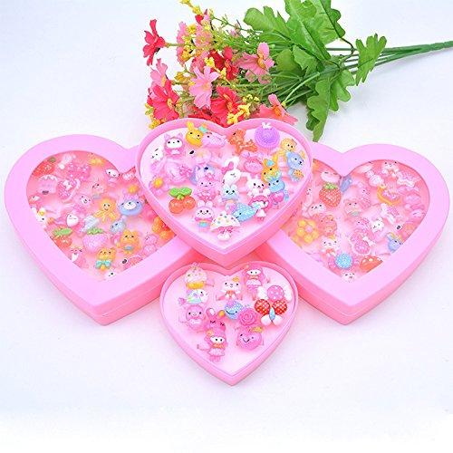 [해외]Liebeye 반지 세트 귀여운 축제 경품 젯날 여자 할로윈 크리스마스 패션 반지 24PCS | 하트 모양 상자/Liebeye ring set cute festival prizes fairy girls girls Halloween Christmas fashion ring 24PCS | heart shaped box