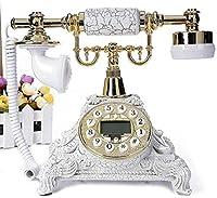 クリエイティブアンティークレトロ電話ホームオフィス電話(電子着メロ+マシンの着メロ+ハンズフリー+バックライト+発信者ID)サイズ:18x18x22cm A +(色:ゴールド)