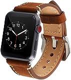 Kato apple watch バンド アップルウォッチ バンド 本革ベルト apple watch ミラネーゼ ミラネーゼループ Apple Watch Series 3/2/1 品質保証 腕時計バンド (38mm ブラウン)