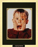 Home Alone。McAulay Culkin As Kevin Mccallister。映画ポスター額入りフォトプレート( 12x 15